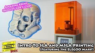 Resin 3D Printing: SLA vs. MSLA vs. FDM - Elegoo Mars Review and Setup