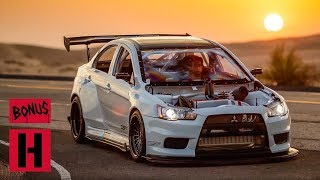 Evo X Super Street Cover Shoot in the Dunes with Larry Chen!