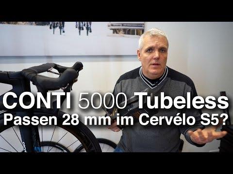 Conti GrandPrix 5000 TL Tubeless Rennradreifen: passen die 28 mm Reifen in das Cervélo S5 2019?