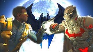 Injustice 2 - Black Lightning Vs Batman All Intro Dialogue/All Clash Quotes, Super Moves