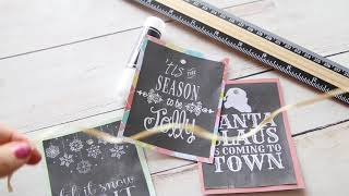 Making Christmas Ornaments Or Gift Tags From Free Printables