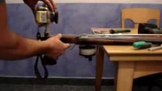 Montaje de un soporte para la cámara del fusil