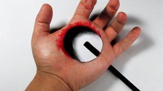 COMO FAZER BURACO 3D na mão. (desenho)