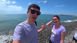Море в Сочи 2018 - Пляж в Центре и набережная в Олимпийской деревне, где чище?