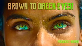 Brown to Amazing Sea Green Eyes Transformation BIOKINESIS Subliminal Hypnosis -Change Your Eye Color