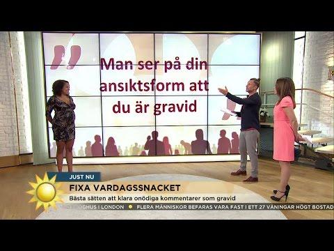 Så hanterar du oönskade kommentarer under graviditeten - Nyhetsmorgon (TV4)