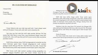 Mahathir utus surat pada Utusan Malaysia