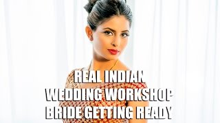 Real Indian Wedding Photography Workshop- Bride Getting Ready Crowne Plaza Cherryhill, NJ