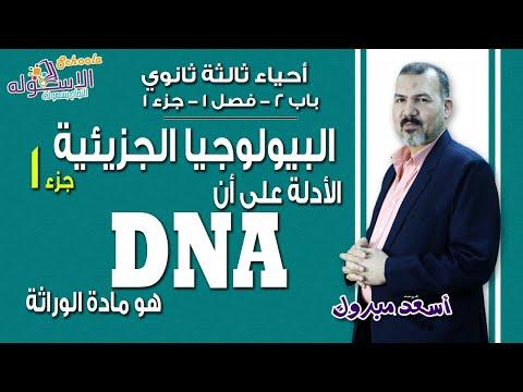 شرح أحياء ثانوية عامة |البيولوجيا الجزئيئة-الأدلة على أن DNA هو مادة الوراثة| باب2-فصل1-ج1| الاسكوله