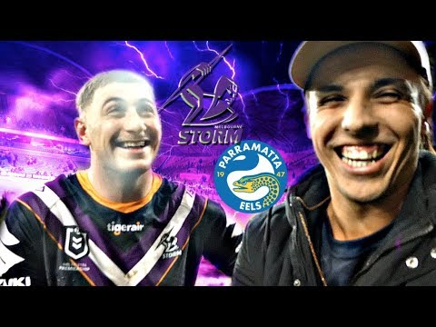 BONE CRUNCHING HIT! | Melbourne Storm v Parramatta Eels | Game Day Experience | NRL Vlog