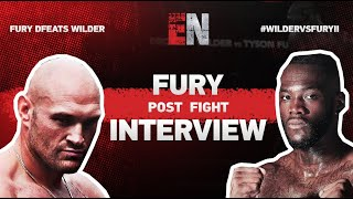 Wilder vs Fury II -- Post Fight Interview With Tyson Fury I ESNEWS Boxing