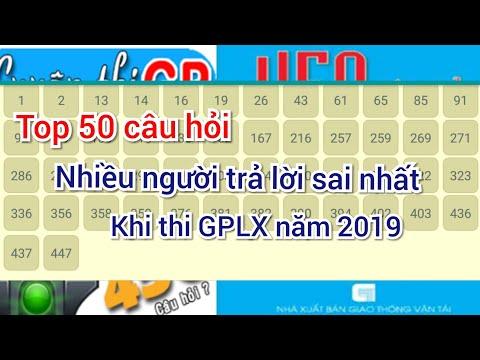 Tổng hợp 50 câu hỏi nhiều người trả lời sai nhất khi thi GPLX hạng C B2 năm 2019 p1