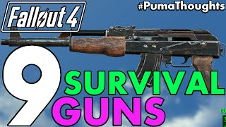 Top 9 Best Guns and Weapons from Fallout 4's Survival Mode (Including DLC) #PumaCounts