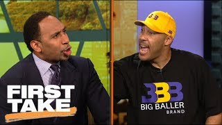 LaVar Ball and Stephen A. argue over BBB pricing and LeBron joining Lakers | First Take | ESPN - dooclip.me
