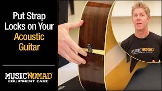 How to put straps locks on your Acoustic Guitar without permanently modifying it with Acousti-Lok