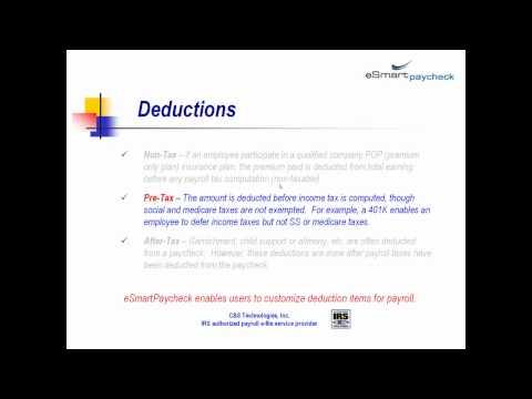 Video Guide - eSmart Paycheck