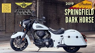2019 Indian Springfield Dark Horse | Demo Test Ride And Review At Arlen Ness Motorcycles