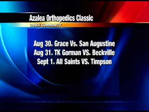 7th Annual Azalea Orthopedics Classic Football – Grace, TK Gorman, All Saints, Beckville, San Augustine, Timpson