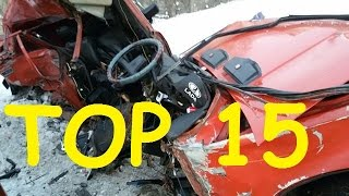 TOP 15 Car Crashes for 14 01 2017