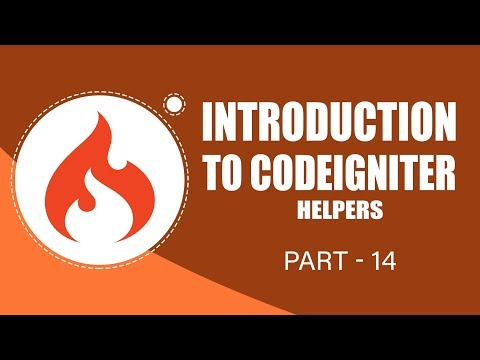 CodeIgniter Framework | Helpers | Part 14 | Eduonix