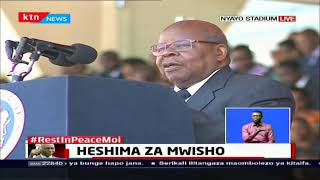 Former Tanzanian President Mkapa pays tribute to Former President Moi