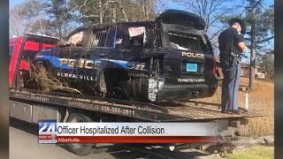 AlbertvilleOfficer Hospitalized After Collision