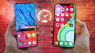Samsung Galaxy S20+ vs Apple iPhone 11 Pro Max - Speed Test!