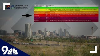 Denver's air quality is extremely poor thanks to all the fires in Colorado, California