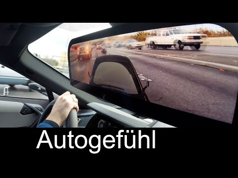 BMW i8 concept mirrorless Mobility Mirror with constant rear view camera - Autogefühl