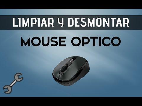 Como Desmontar y Limpiar un Mouse Óptico