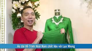 Áo dài Đỗ Trịnh Hoài Nam chất liệu vải Lụa Nhung