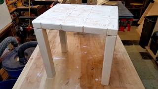 DIY END GRAIN SIDE TABLE (Two  2x4 Challenge 2017)