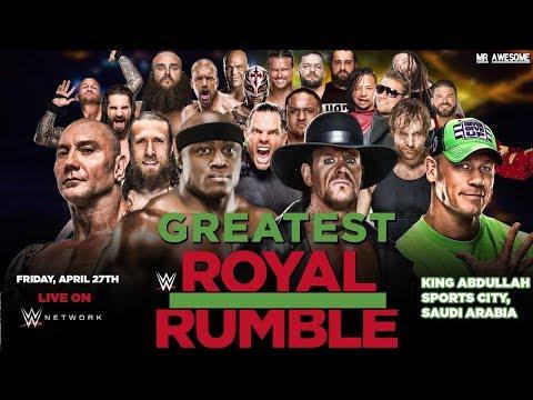 greatest royal rumble 2018 youtube