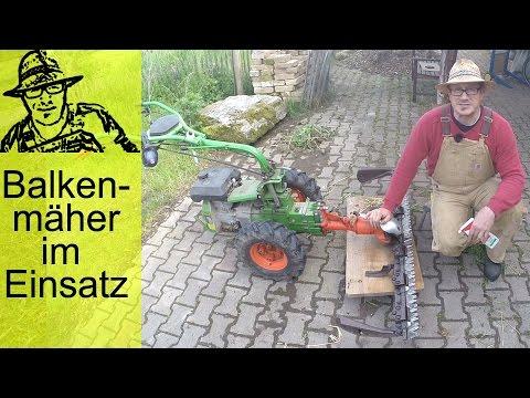 Balkenmäher sind besser als Rasenmäher