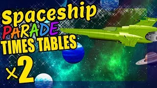 Spaceships Teaching Multiplication Times Tables x2 Educational Math Video for Kids