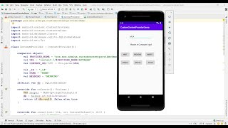 How to Create Custom Content Provider with INSERT, UPDATE, DELETE and SELECT - Android Kotlin
