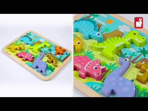 Youtube Video for Dinosaur Chunky Wooden Puzzle