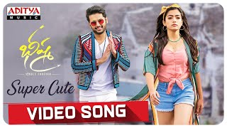 "Watch #SuperCute Video Song From The Telugu Movie #Bheeshma Movie  Audio Also Available on   Wynk Music► http://bit.ly/2v3yT0q  Spotify► https://spoti.fi/2SUt9OE    Song - Super Cute Lyrics - Shreemani Singer -  Nakash Aziz  Cast & Crew: Starring: Nithiin, Rashmika Mandanna Music: Mahati Swara Sagar D.O.P: Sai Sriram Art director: Sahi Suresh Choreography: sekhar Editor: Navin Nooli Presents: PDV Prasad Producer: Suryadevara Naga Vamsi Written & Directed by Venky Kudumula Banner: Sithara Entertainments ------------------------------------------------------------------------------------------ Enjoy and stay connected with us!! ►Subscribe us on Youtube: http://bit.ly/adityamusic ►Like us on Facebook: http://www.facebook.com/adityamusic ►Follow us on Twitter: http://www.twitter.com/adityamusic ►Follow us on Instagram: https://www.instagram.com/adityamusicindia ►Follow us on LinkedIn: http://bit.ly/2Pp6ze3 ►Circle us: https://plus.google.com/+adityamusic  SUBSCRIBE Aditya Music Channels for unlimited entertainment: ►For New Movies in HD: http://www.youtube.com/Adityamovies ►For Songs with Lyrics: https://www.youtube.com/AdityaMusic ►For Devotional Songs: http://www.youtube.com/AdityaDevotional ►For Kids Educational: http://www.youtube.com/AdityaKids  →""మా పాట మీ నోట"" Telugu Lyrical Songs - http://bit.ly/1B2EcJG →Latest Tollywood Lyric Video Songs - http://bit.ly/1Km97mg →Ever Green Classics - https://goo.gl/1fZEDy →Popular Jukeboxes - https://goo.gl/LNvAIo →Telugu Songs with Lyrics - https://goo.gl/7ZmgWT  © 2020 Aditya Music India Pvt. Ltd."