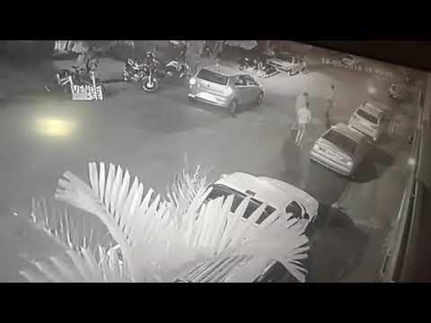 Câmera flagra acidente em Batatais-SP