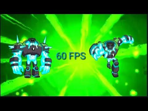 Ben 10 Reboot - all Shock Rock best transformations [60FPS