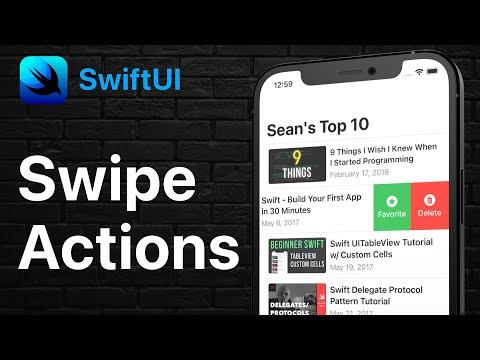 SwiftUI - Swipe Actions on List | iOS 15 & Xcode 13 thumbnail