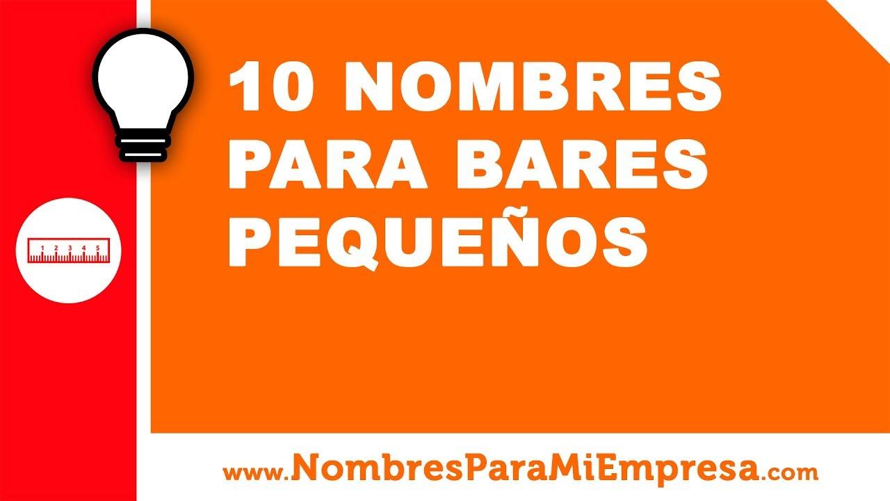 10 nombres para bares pequeños - nombres para empresas - www.nombresparamiempresa.com