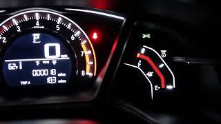 Honda Civic Hatckback 2018 Night Dashboard & Indoor Light Trick