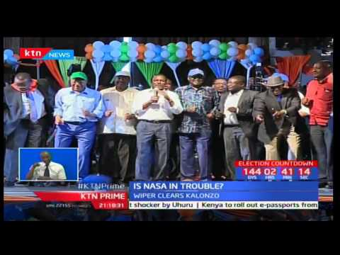 Wiper leader Kalonzo says presenting his presidential papers does not mean he is leaving NASA