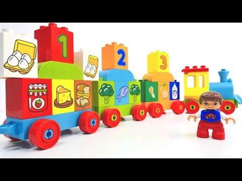 Lego Spiele für Kleinkinder: wir lernen Lebensmittel!