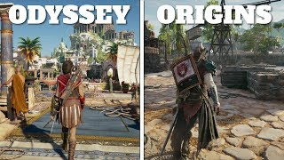Odyssey vs Origins - Graphics & Gamplay Side by Side Comparison | Assassins Creed