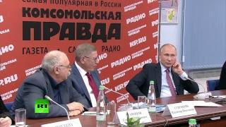 Vladimir Poutine répond aux questions des patrons des médias russes