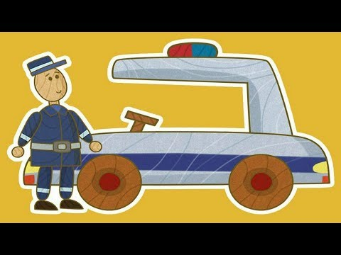Coches de juguete. La policía. Dibujos animados para niños.