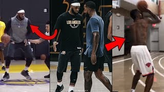 Jr Smith DESTROYS LAKERS PLAYERS In Lakers Practice With LEBRON JAMES! Lebron RECRUITING Smith!