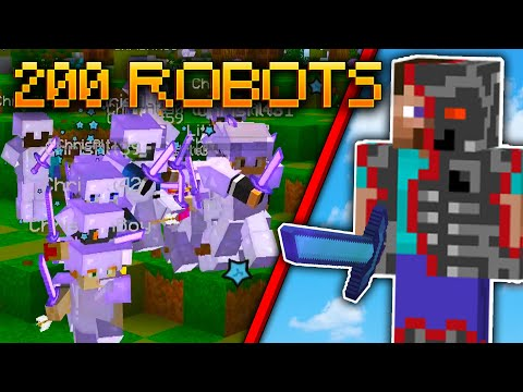 ROBOT Army DESTROYS Minecraft Server!! - F1NN5TER,mumclip com